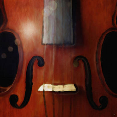 Painting - Highlighted Violin by Dennis Buckman