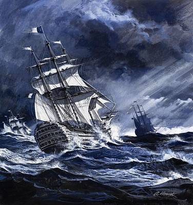 Storm Drawing - Highlights From History Irelands Great by Andrew Howat