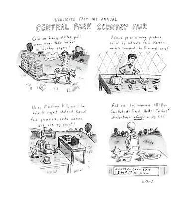 Produce Drawing - Highlights From The Annual Central Park Country by Roz Chast