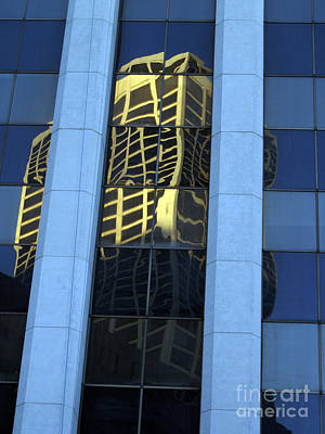 Photograph - Highrise Reflection  by Haleh Mahbod