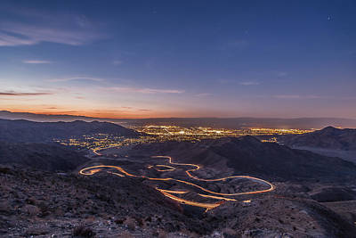 Photograph - Highway 74 Vista Point Palm Desert Light Painting by Scott Campbell