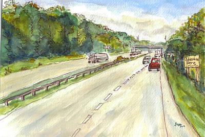 Highway 95 Art Print by Clara Sue Beym