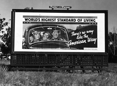 The New Deal Photograph - Highway Billboard, 1937 by Granger
