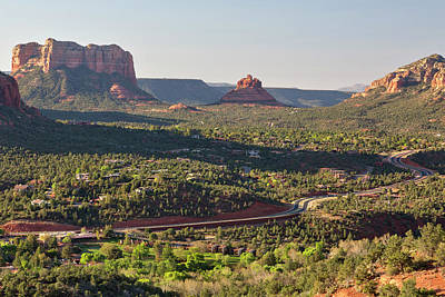 Photograph - Highway, Courthouse Butte And Bell by Picturelake