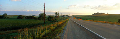 Cornfields Photograph - Highway Eastern Ia by Panoramic Images