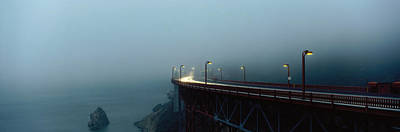 Headlight Photograph - Highway In Fog, San Francisco by Panoramic Images