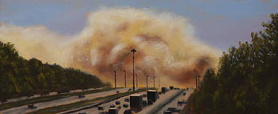 Painting - Highway Nightmare by Alan Mager