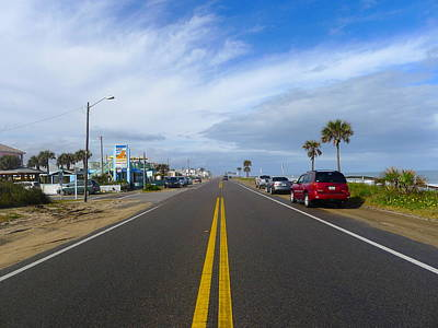 Photograph - Highway One In Palm Coast Florida by Denise Mazzocco