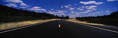 Asphalt Photograph - Highway Passing Through Landscape, New by Panoramic Images