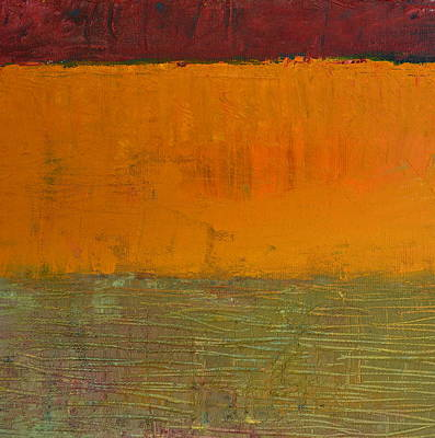 Abstract Expressionism Wall Art - Painting - Highway Series - Grasses by Michelle Calkins