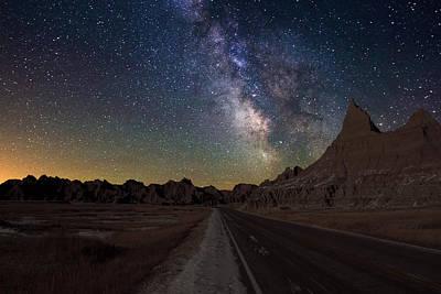 Dark Sky Photograph - Highway To by Aaron J Groen