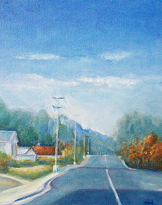 Art Print featuring the painting Highway To Heaven by Jane  See