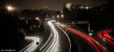 Photograph - Highway's Lights by Stwayne Keubrick