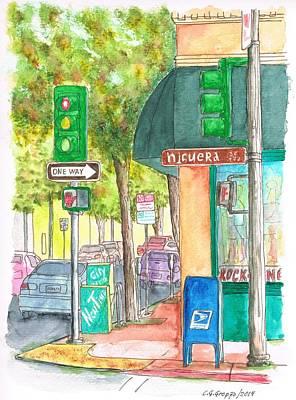 Mail Box Painting - Higuera Sreet In San Luis Obispo, California by Carlos G Groppa