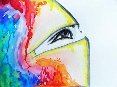 Hijab Veil Art Print by Salwa  Najm