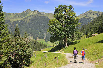 Vorarlberg Photograph - Hike In Beautiful Mountain Landscape In The Alps by Matthias Hauser
