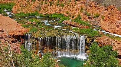Hike Into Havasupai  Art Print by Michael J Bauer