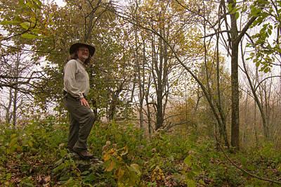 Photograph - Hiker On Blue Ridge by Paul Rebmann