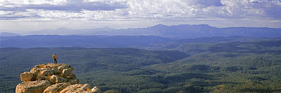 Mogollon Rim Photograph - Hiker Standing On Top Of Rock, Mogollon by Panoramic Images