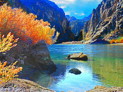 Chasm Lake Photograph - Hikers Haven Two by Alan Socolik