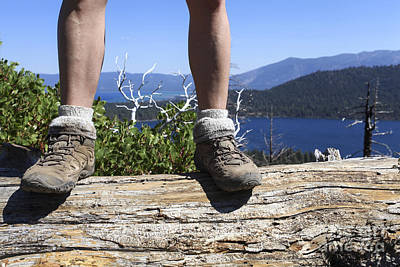 Hikers Legs And Boots  Art Print by Gal Eitan
