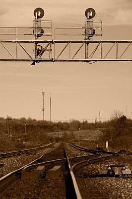 Hikin' The Tracks Art Print by Paul Wash