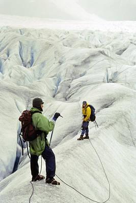 Hiking A Glacier Art Print
