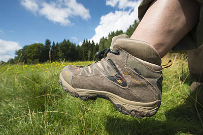 Photograph - Hiking Boots And Summer Landscape by Matthias Hauser