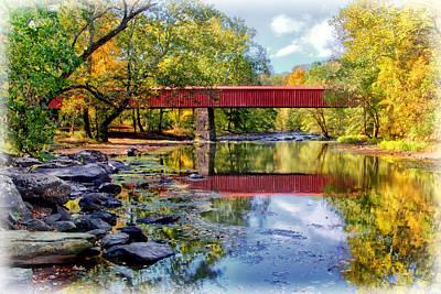 Photograph - Hiking Bridge To High Rocks Vistas by Carolyn Derstine