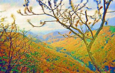 Hiking Chimney Rock  Art Print by Skyler Tipton