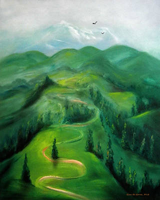 Painting - Hiking by Gina De Gorna