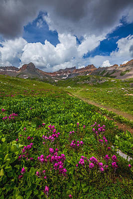 San Juan Mountains Photograph - Hiking Ice Lake Basin by Darren  White