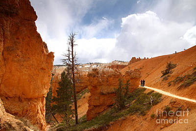 Photograph - Hiking In Bryce Canyon by Butch Lombardi