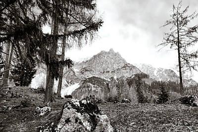 Photograph - Hiking In The Alpine Region Dachstein by Menega Sabidussi