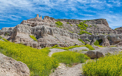 Photograph - Hiking In The Badlands by John M Bailey