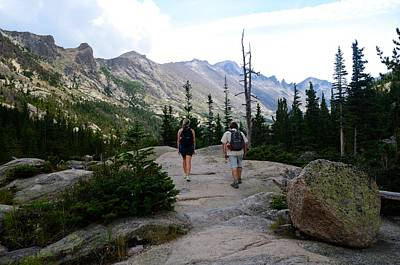 Photograph - Hiking In The Rocky Mountains by Walt Sterneman