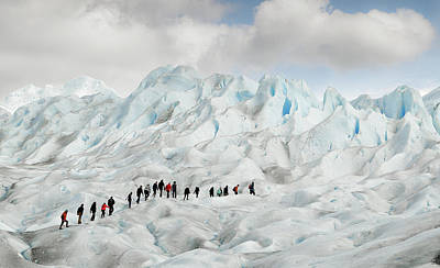 Climb Photograph - Hiking On Perito Moreno by Roberto Oggiano