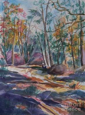 Painting - Hiking To A Vision by Ellen Levinson
