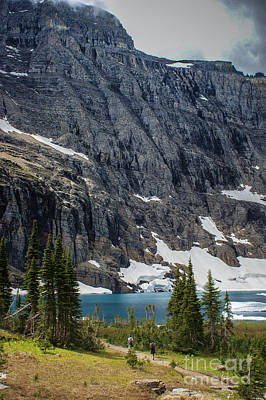Photograph - Hiking To Iceberg Lake  by Jim McCain