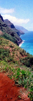 Painting - Trail To Kalalau by Susan Schroeder