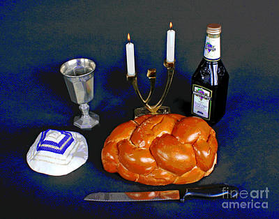 Photograph - Hilary's Shabbos Candles by Larry Oskin