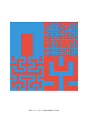 Fractal Geometry Digital Art - Hilbert Curves Of Order 1 2 3 And 4 by Martin Krzywinski