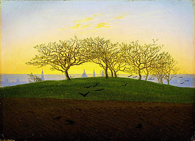 Celebrity Pop Art Potraits - Hill and Ploughed Field near Dresden by Caspar David Friedrich by MotionAge Designs