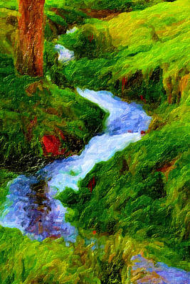 Digital Art - Hill And Rill by Chuck Mountain