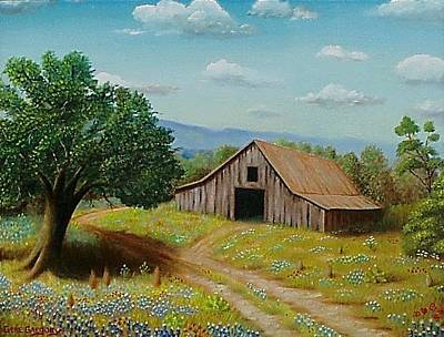 Painting - Hill Country Barn   by Gene Gregory
