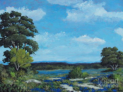 State Natural Area Painting - Hill Country Beauty by Burt Oatman