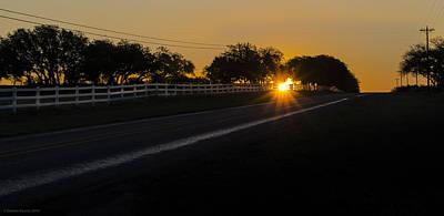 On Trend Breakfast - Hill Country Sunrise 2 by Debbie Karnes