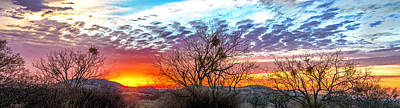 Hill Country Sunset Art Print by Wally Taylor