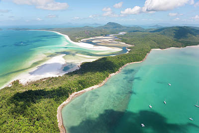 Hill Inlet Whitsunday Islands Art Print by Peter Adams