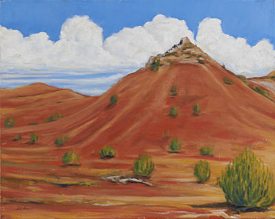 Painting - Hill New Mexico  by David  Llanos